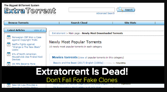 extratorrent shut down