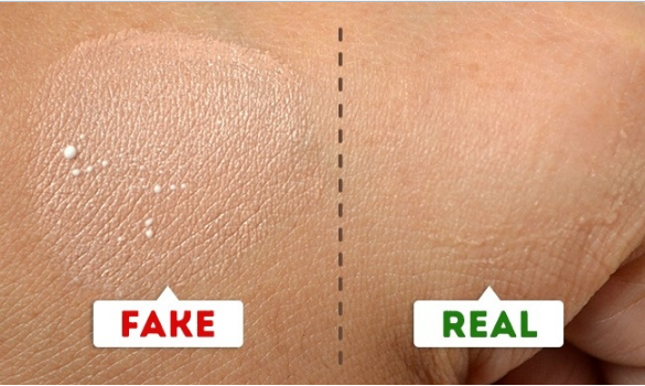 comparison of fake and real make up